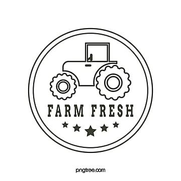 creative round line farm harvester logo Template