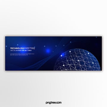 Dark light effect technology element activity banner Template