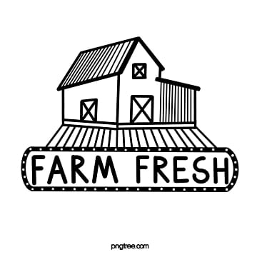 farm fresh line signboard sign Template