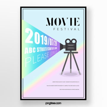 fresh camera gradient film festival poster Template