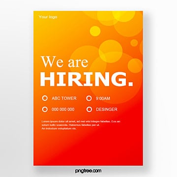 gradient geometry talent recruitment poster Template