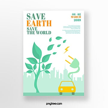 Green life energy saving theme poster Template