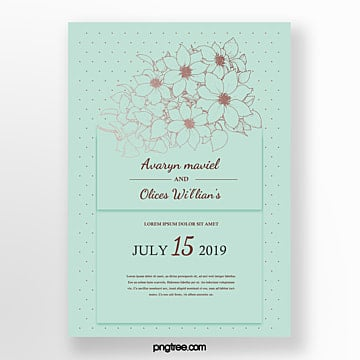 wedding invitation bouquet bouquet invitation Template
