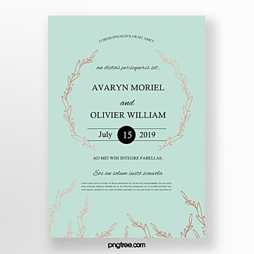 wedding invitation wreath flower invitation Template
