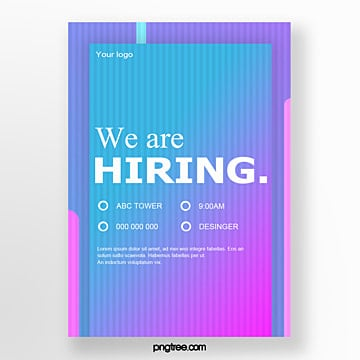 high saturated color recruitment poster Template