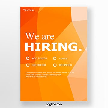 high saturated gradient geometry recruitment poster Template