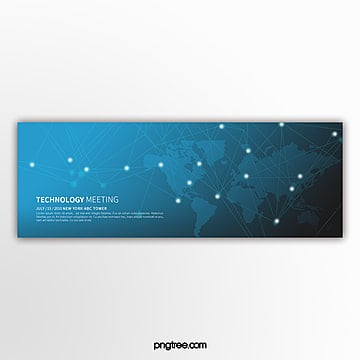Minimalistic blue business tech element activity banner Template