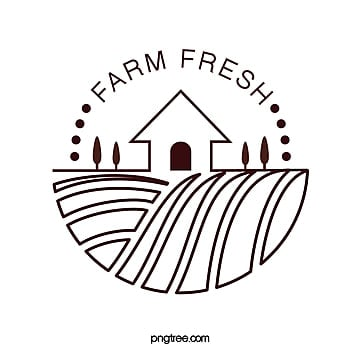 minimalistic creative line farm house  farmland sign Template
