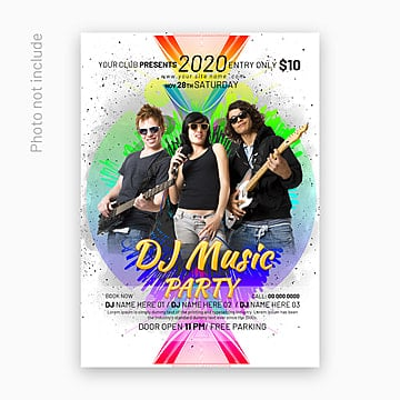 party poster template, Party Poster, Poster Template, Flyer PNG and PSD