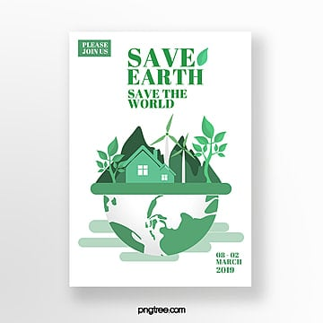 Protect the Earth Green Theme Event Poster Template