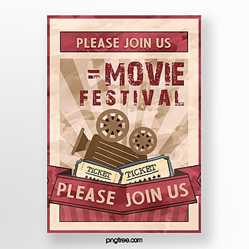 retro film festival poster Template
