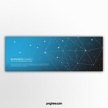 simple blue line business technology activity banner Template