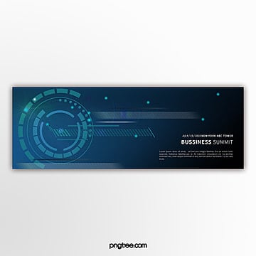 simple blue tech element business activity banner Template