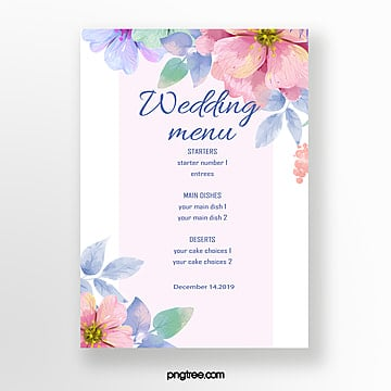simple floral wedding Template