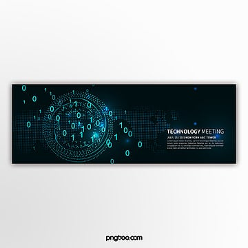 simple technology blue business activity banner Template
