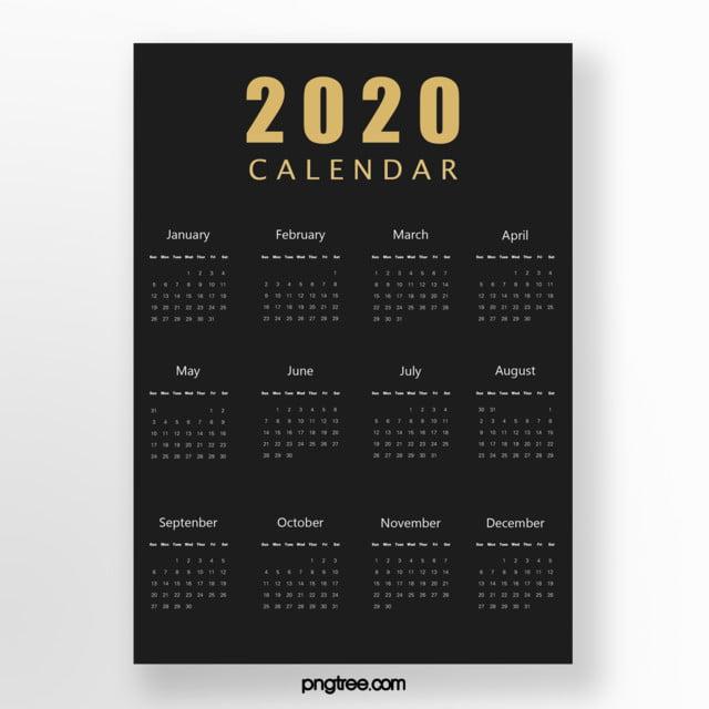 Calendario Moda 2020.Modelo De Calendario De Negocios De Moda Negra 2020 Modelo