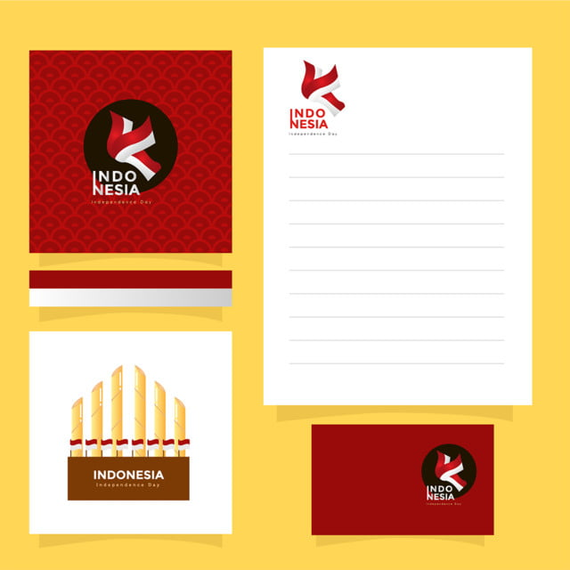 Mockup Invitation Card Indonesia Independence Day Template