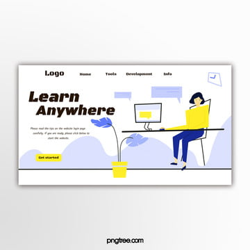 light purple simple education website banner Template