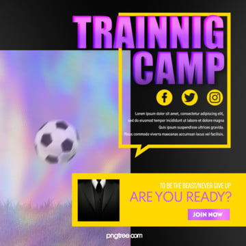 purple colorful gradient football activity pop up window square sns Template