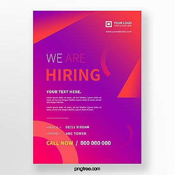 abstract high saturated color recruitment poster Template