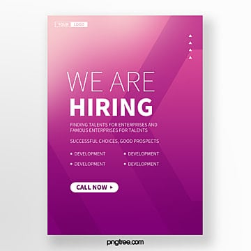 abstract high saturated gradient geometry recruitment poster Template