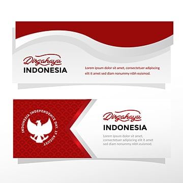 banner indonesia independence day Template