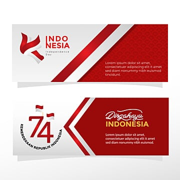 banner templates for indonesia independence celebration Template