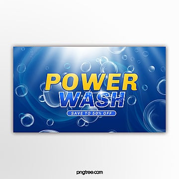 dark blue washing supplies promotional pop up window Template