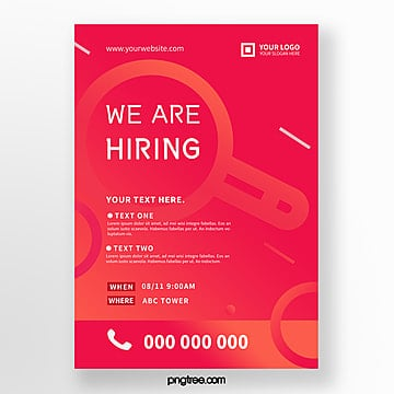 fashion high saturated color recruitment poster Template