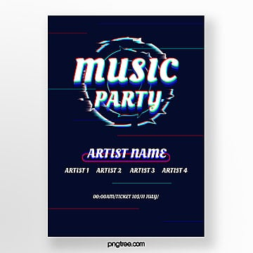 fault art style music festival Template
