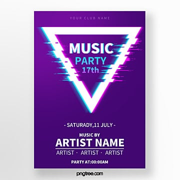 fault art triangle signal interference music festival poster Template