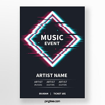 fault geometry electronic music festival activity art poster Template