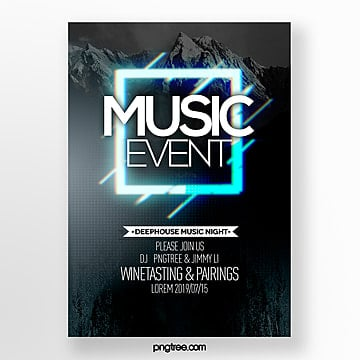 fault style music party theme poster Template