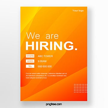 gradient color recruitment poster Template