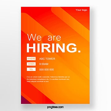 gradient pop recruitment poster Template