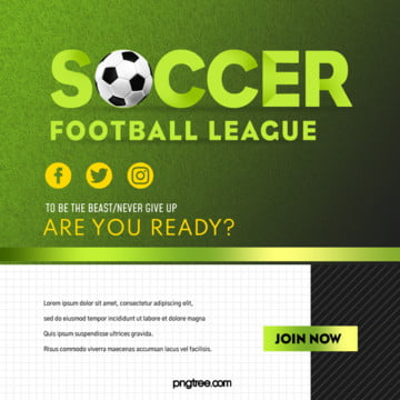 green football event stereo pop up window square sns Template