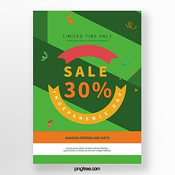 green india independence day promotion poster Template