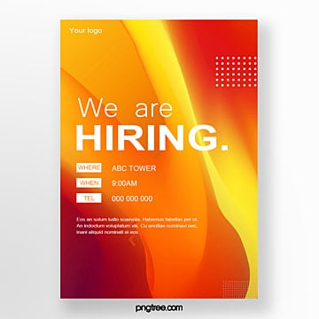 high saturated gradient recruitment poster Template