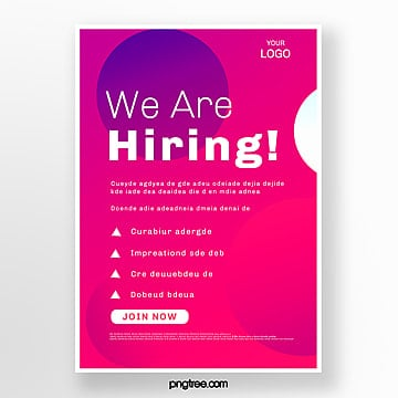 high saturated red recruitment poster Template