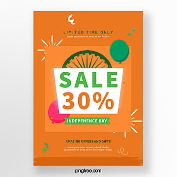 orange india independence day promotion poster Template