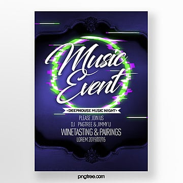Round  fault style  party theme poster Template