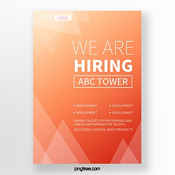 simple high saturated polygon geometry company recruitment poster Template