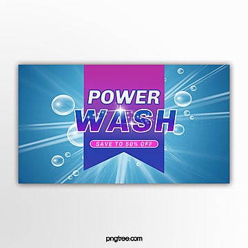 simple washing supplies promotion pop up window Template