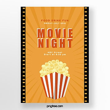 yellow retro movie poster Template