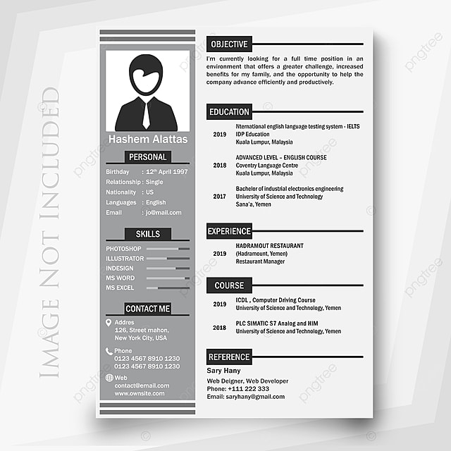 Black And White Resume Template Template For Free Download On Pngtree