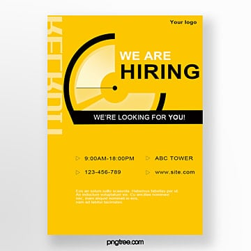 creative recruitment talent poster Template