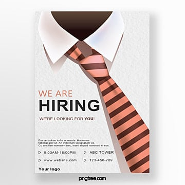 creative tie hand drawn recruitment poster Template