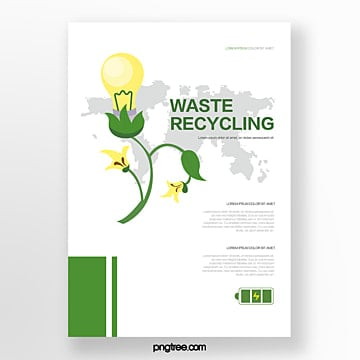 Business Environmental Bulb Flower Waste Flyer Template