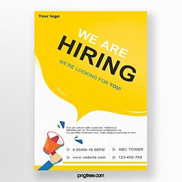 hand drawn trumpet recruitment poster Template