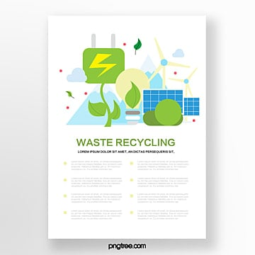 Commercial environmental windmill solar recycling flyer Template